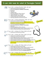 Health Requirements for 2017-18