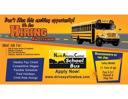 Hiring for Bus Drivers and Monitors