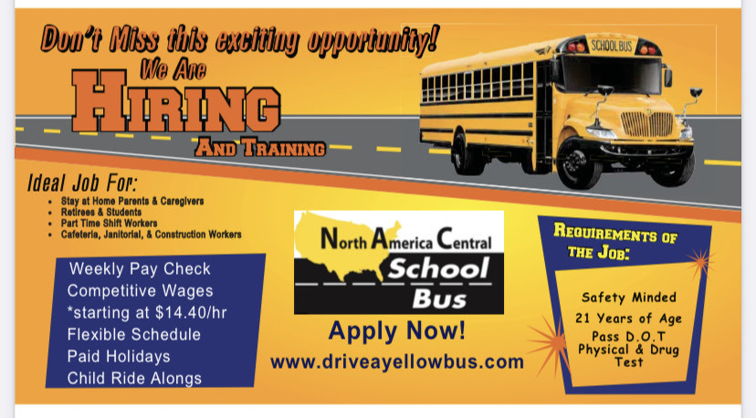 Illinois Central School Bus is Hiring!