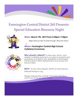 Special Education Resource Night