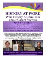 History At Work- WIU History Alumni Talk about Career Success​