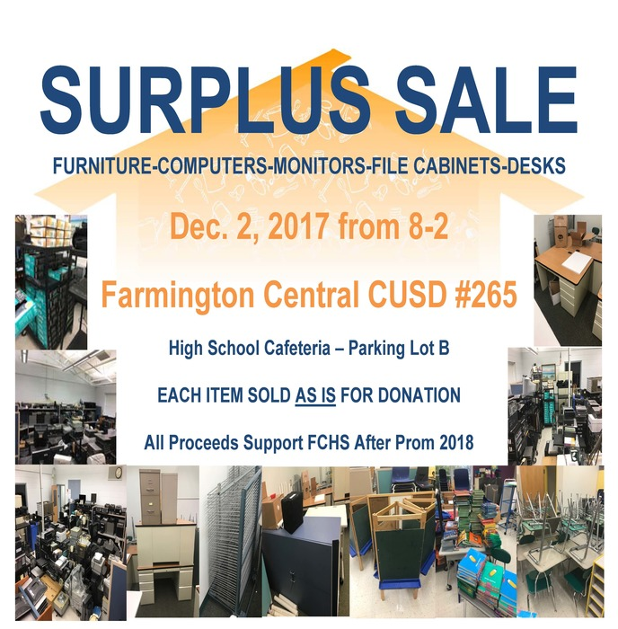 Surplus Sale December 2, 2017