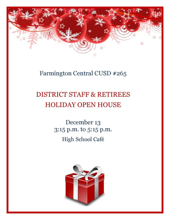 District Staff & Retiree Holiday Open House